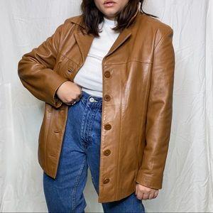 Vintage Caramel Leather Jacket